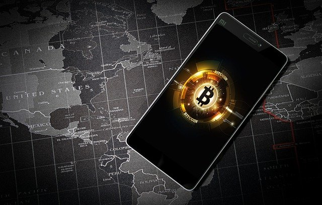 Bitcoin kuva puhelimessa